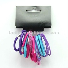 elastic bands with metal clip