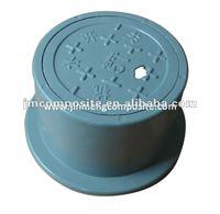 Supply decorative light weighted round Composite Fiberglass Water Meter Box