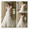 HS1099 New Design One Shoulder Lace Crystal Appliques Bridal Gown wedding dress 2012 China