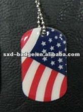 2012 customized US flag printed dog tag