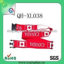 2012 promotion red printing logo Luggage Belt