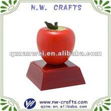 Big red apple desk decorate trophy