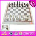 2015 jeunesse, Échecs jeu jeu jouet pour les enfants, jouet en bois chess set pour les enfants, drôle de jouet éducatif en bois chess set w11a006