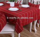 100% polyester yarn-dyed table cloth waterproof