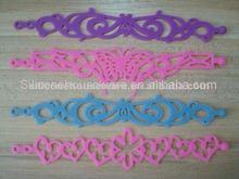 2012 Fashional Beautiful Hollow Silicone Rubber Wristband