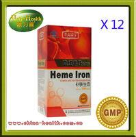 12 x heme iron tablets, improve nutritional anemia