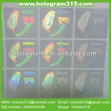 2012 Transparent 3d hologram sticker