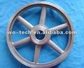 oem de acero al carbono de fundición de precisión de la rueda de la polea