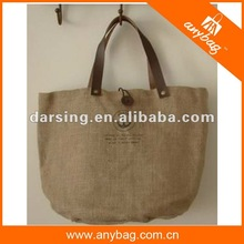 NEW promotional jute bags with leather handles