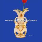 luxury animal shaped resin vase for home