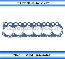 Nissan motorcycle Cylinder head gasket TD42 head engine