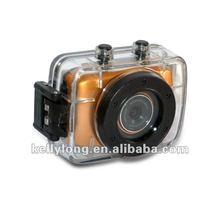 waterproof and shockproof full HD 720p action camera for diving, bike, helmet, car