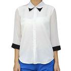 YIGELILA Fashion Women Elegant Formal White Blouses 741