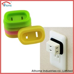 silicone socket protective cover, silicone safety plug cover