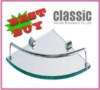 A87271B Wall Mounted Triangle bathroom glass shelf