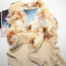 Polyester scarves tie dye silk fabrics