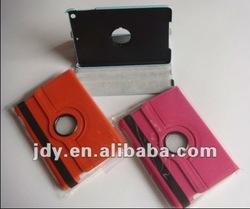 Cover for mini ipad Smart Cover PU Leather Case Rotating Stand Wake/Sleep