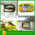 125g sardina en conserva de aceite de pescado con certificado kosher