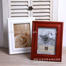 Home living brown color simple wooden photo frame / picture frame with E0 MDF backboard for table or wall decoration