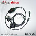 Industrial de alta velocidade estabilidade USB 2.0 para RS232 2 portas adaptador Serial DB9 cabo conversor