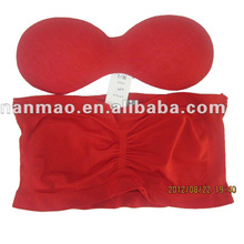 2015 Woman sexy seamless underwear tube top bra with padding