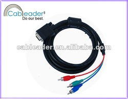 high quality Cableader VGA rca 15pin male to male cable