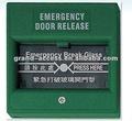 De salida de emergencia de liberación bajoversión eléctrica, de alarma contraincendios, rotura de cristales de emergencia contraincendios