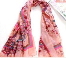 peacock silk scarves