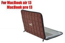Croco Chocolate design EVA laptop bags with zipper for 13 inch Macbook air