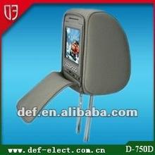 "SONY Loader 7"" Car Headrest DVD Player Game/USB/SD Ports/FM/TV(D-750D)"