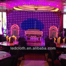 led vision curtains,Dj decoration, night club lighting