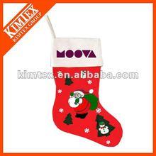 Supply with fashionable felt christmas socks for christmas day