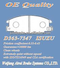 D363 ISUZU auto brake pads
