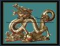 bronze statues dragon chinois