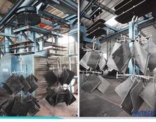 Q3810 double route hanger chains type sand blasting machinery/wheel blasting equipment