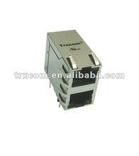 rj45 cat 5 6 ethernet lan splitter adaptador conector pc cat5 cat6 adaptador modular plug conector de rede