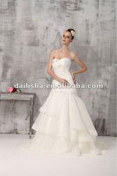 2013 New Sleevelss White Luxury Wedding Dress Long Tail B2028
