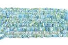 Wolesale natural bule Stone 4~10mm aquamarine loose gemstone chips