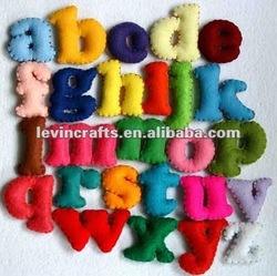 letters of handmade felt gift