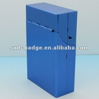 OEM Fashion Blue metal cigarette case from China