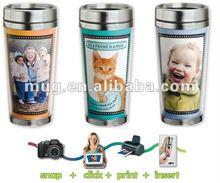 16oz DIY promotional paper insert travel mug