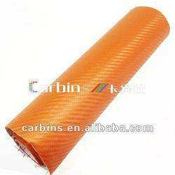 Orange 3D Carbon Fabric, Car interior carbon fiber cloth