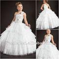 jf0076 nueva llegada de la princesa blanca cabestro cenicienta boda vestidos para niñas
