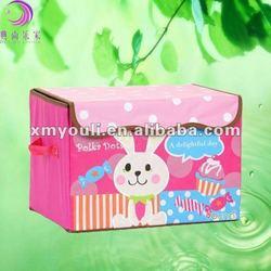 Folding cartoon toy organizer bins