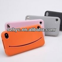 Creative! Funny Smile Face Silicone Mobile Phone Case