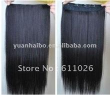 18 inch #1B silky straight, Malaysian Virgin Hair Clip In Hair Extension