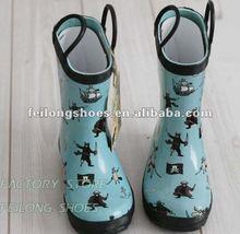 Fashion Cartoon Printed Kids Rain Boots with Ears Manufacturer