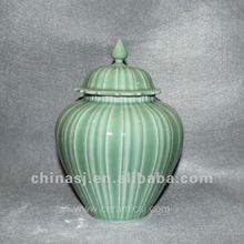 hand made green celadon lided ginger jar RYNT14