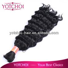 easy to wear no shedding hot selling bulk human hair