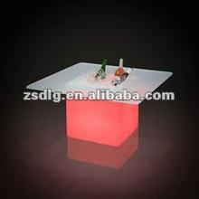 LED Illuminated Outdoor Furniture Three Legged Stool